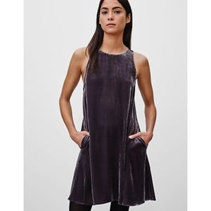 Aritzia Wilfred Velvet Trompette Dress XS